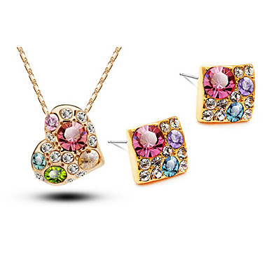 Women's Crystal Jewelry Set - Crystal Include 1# / 2# / 3# For Wedding / Party / Birthday / Earrings / Necklace