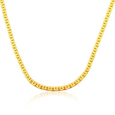 Men's Classic Fashion Chain Necklace Gold Plated Chain Necklace , Classic Fashion Wedding Party Daily Casual