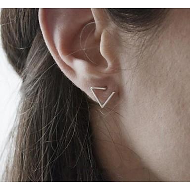 Női Beszúrós fülbevalók minimalista stílusú Állítható Divat jelmez ékszerek Ötvözet Triangle Shape Ékszerek Kompatibilitás Parti Napi