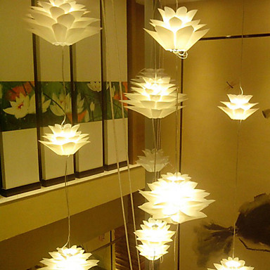 35CM PP Lotus Modern Personality Decoration Droplight Light Lamp LED
