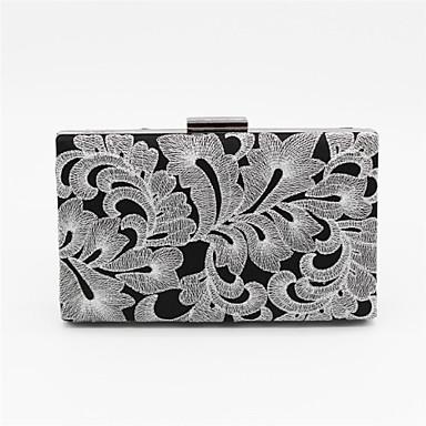 Žene Torbe Ljeto Oxford tkanje Saten Večernja torbica Kristalni detalji za Vjenčanje Zabave Zlato Pink