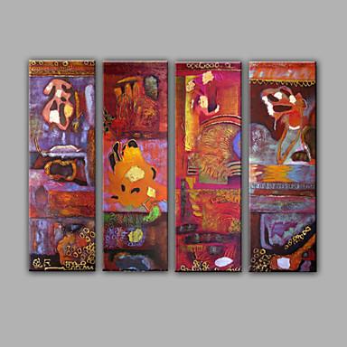 Kézzel festett Fantasy Vízszintes,Mediterrán Négy elem Vászonlakberendezési