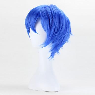 moda perucas de alta qualidade de cor bule perucas cosplay reta