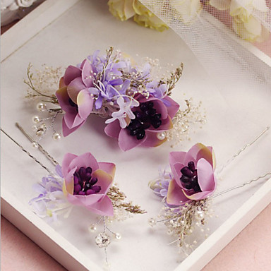 Fabric Alloy Hair Pin 1 Wedding Special Occasion Headpiece