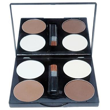 # / Ensfargede Sminkesett Presset pudder Highlighters og bronzers Tørr / Kombinasjon / Oljete Naturlig Ansikt Sminke kosmetisk