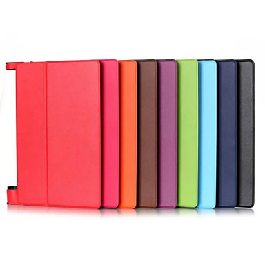 Case For Lenovo Full Body Cases / Tablet Cases Solid Colored Hard PU Leather for