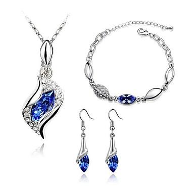 Mulheres Conjunto de jóias - Cristal Incluir Azul / Rosa claro / Roxo Escuro Para Casamento / Festa / Diário / Brincos / Colares