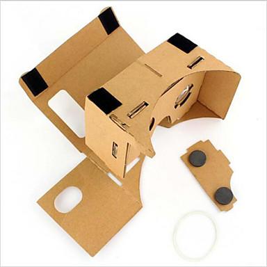 papelão vr realidade virtual óculos tempestade espelho conjunto DIY