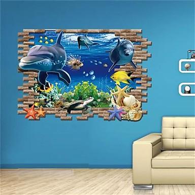 Animais / Vida Imóvel / Moda / Feriado / Formas / Vintage / Fantasia / Lazer Wall Stickers Autocolantes 3D para Parede , PVC 60*90cm