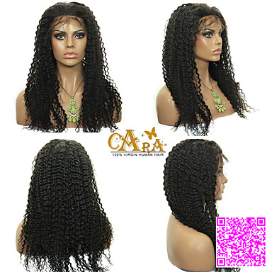 Women Human Hair Lace Wig Human Hair Full Lace Glueless Full Lace 120% Density Kinky Curly Wig Short Medium Length Long Natural Hairline