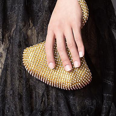 Damen Taschen Acryl Abendtasche Crystal / Strass für Veranstaltung / Fest Gold / Weiß / Schwarz