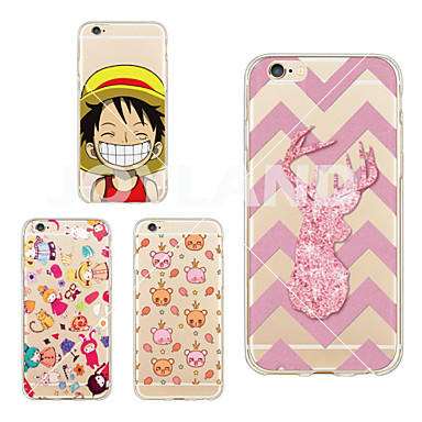 Case For iPhone 6 iPhone 6 Plus Pattern Back Cover Cartoon Soft TPU for iPhone 6s Plus iPhone 6 Plus iPhone 6s iPhone 6