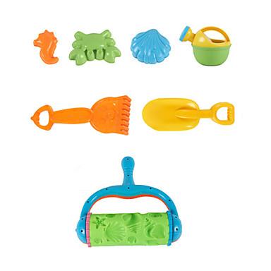 7-kappaletta ranta hiekka leluja asettaa hiekalla rulla, vesi potin, hiekka lapio, hiekka harava ja 3 mallia