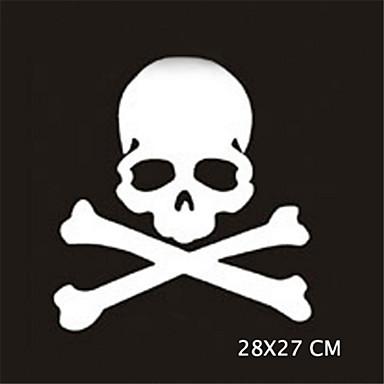 28x27cm funny ghost rider kalloja auto tarra auton ikkunasta Seinätarrat auton muotoilu (1kpl)