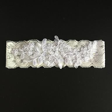 Stretch - Satin Modisch Hochzeitsstrumpfband - Strass / Blume Strumpfbänder