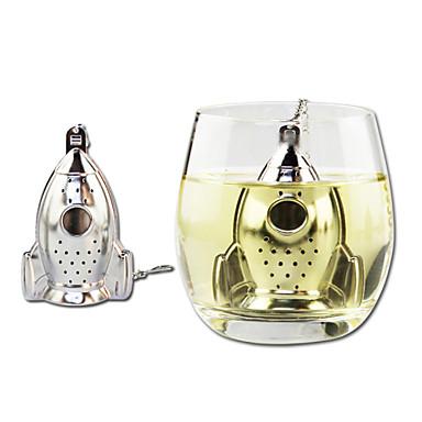 crtani raketni oblik čajni čaj za čaj s mini pločom od nehrđajućeg čelika