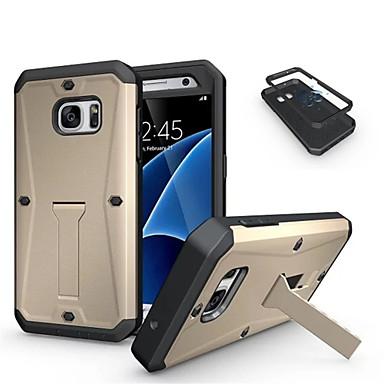 Hülle Für Samsung Galaxy Samsung Galaxy Hülle Stoßresistent mit Halterung Rückseite Rüstung PC für S7 S6
