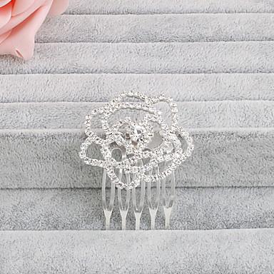 pente de cabelo de strass penteado festa de noiva estilo feminino elegante