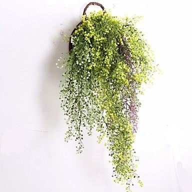 1 Ast Kunststoff Pflanzen Wand-Blumen Künstliche Blumen