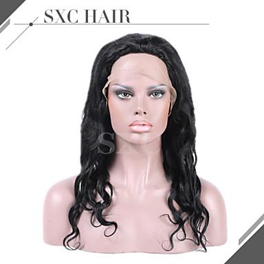 8 '' - 28 '' luonnollista aalto remy neitsyt Intian hiuksista peruukit silkki alkuun täynnä pitsiä peruukit vauvan hiukset mustat naiset
