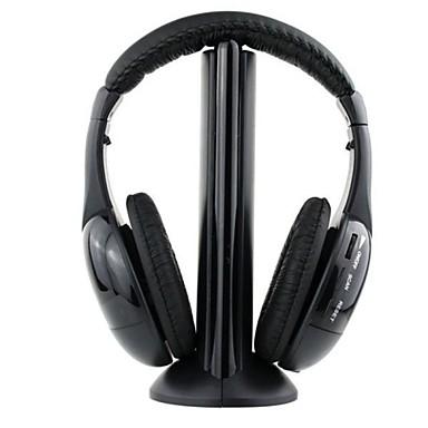 מעל האוזן רצועת ראש אלחוטי אוזניות פלסטי גיימינג אֹזְנִיָה עם בקרת עוצמת הקול בידוד רעש עם מיקרופון אוזניות