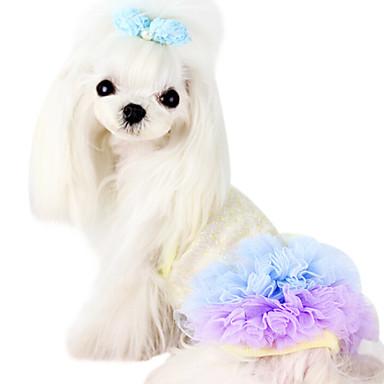 Psi Haljine Odjeća za psa Ljeto Proljeće/Jesen Vezeno Moda Vjenčanje Plava Pink