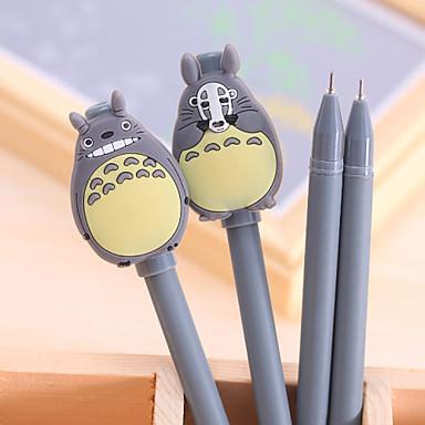 Caneta Caneta Canetas Gel Caneta, Plástico Preto cores de tinta For material escolar Material de escritório Pacote de