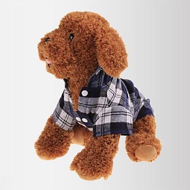 Katze Hund T-shirt Hundekleidung Plaid/Karomuster Rot Grün Blau Baumwolle Kostüm Für Haustiere Herrn Damen Klassisch Lässig/Alltäglich