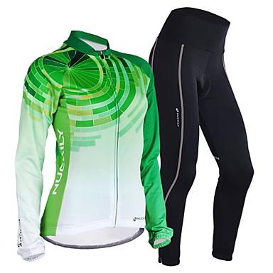 Nuckily Pyöräily jersey ja trikoot Naisten Pitkä hiha Pyörä Jersey VaatesetitNopea kuivuminen Tuulenkestävä Anatominen tyyli Kosteuden