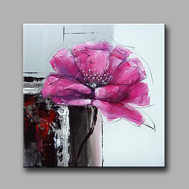 Pintados à mão Floral/Botânico Quadrada, Modern Tela de pintura Pintura a Óleo Decoração para casa 1 Painel