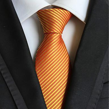 עניבה - פסים ( צהוב , פוליאסטר )