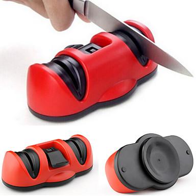 2in1 2 sharpeners keramisk grov&Tungsten stål fint knivsliper med sikker sugekopp for knivsakseverktøyet