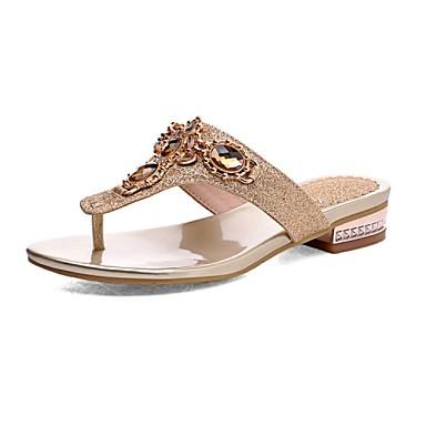 בגדי ריקוד נשים נעליים חומרים בהתאמה אישית קיץ / סתיו עקב נמוך פאייטים כסף / מוזהב