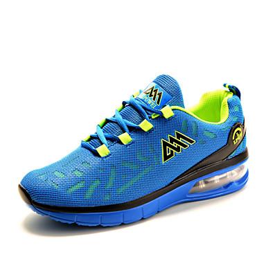 Sneakers-Tyl-Komfort-Herre-Sort Blå Grøn-Udendørs Fritid Sport-Lav hæl
