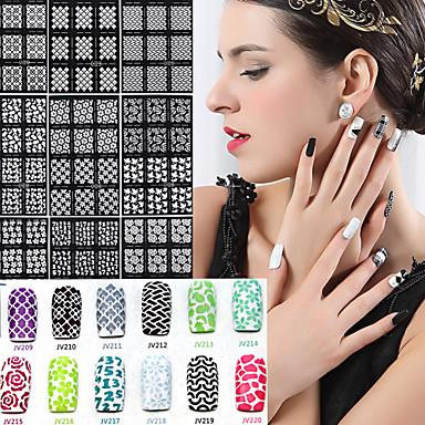 3D Nail Stickers - Sarjakuva - Sormi / Varvas - Muuta - 17*9.8*0.1 - 1