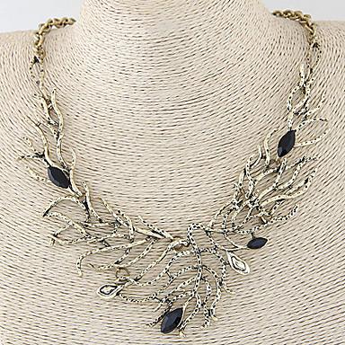 levne Dámské šperky-Dámské Prohlášení Náhrdelníky dámy Vintage Evropský Módní Slitina Stříbrná Bronzová Náhrdelníky Šperky Pro Svatební Párty Denní Ležérní Plesová maškaráda Zásnuby