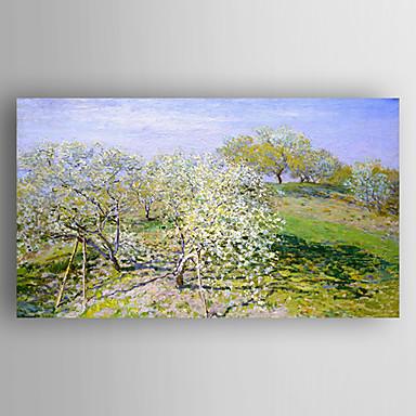 Kézzel festett LandscapeModern Egy elem Vászon Hang festett olajfestmény For lakberendezési