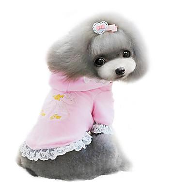 강아지 코트 강아지 의류 통기성 패션 퍼플 핑크 코스츔 애완 동물
