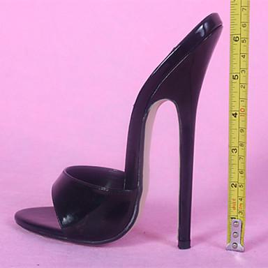 Mulheres Sapatos Courino Verão Conforto Sandálias Salto Agulha Branco / Preto / Festas & Noite / Festas & Noite
