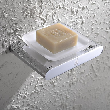 Soap Dish Contemporary Brass Glass Chrome