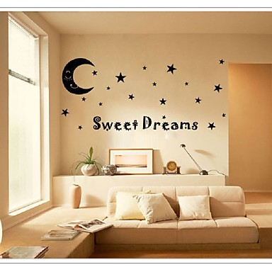 Autocolantes de Parede Decorativos - Etiquetas de parede de palavras e citações Vida Imóvel Sala de Estar Quarto Banheiro Cozinha Sala de
