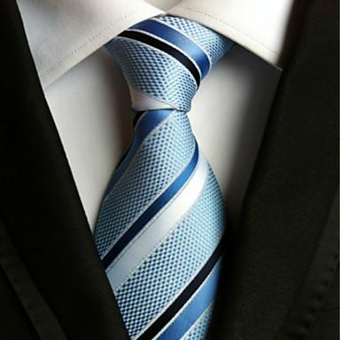 Krawatte ( Blau / Weiß , Polyester ) Gestreift