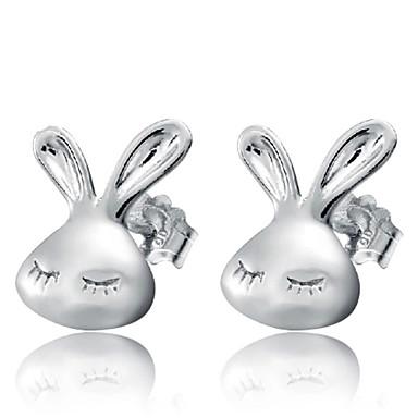 Lureme®  Korean Fashion 925  Sterling Silver Little White Rabbit Earrings