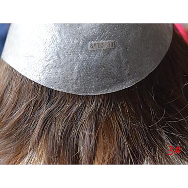 povoljno Perike i ekstenzije-Muškarci Ljudska kosa Tupe Ravan kroj / Klasika 100% rađeno rukom Dnevno