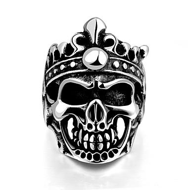 指輪 ステンレス鋼 スカル クラシック シルバー ジュエリー Halloween 日常 カジュアル スポーツ 1個
