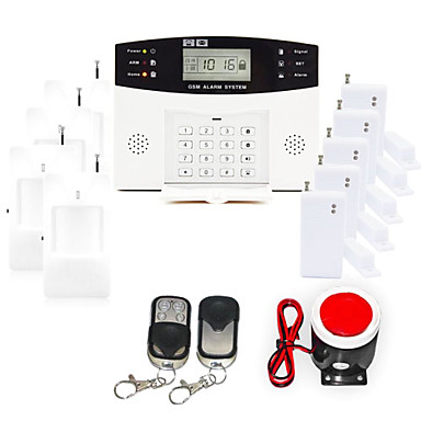 433MHz Wireless Keyboard / SMS / Phone GSM Home Alarm Systems