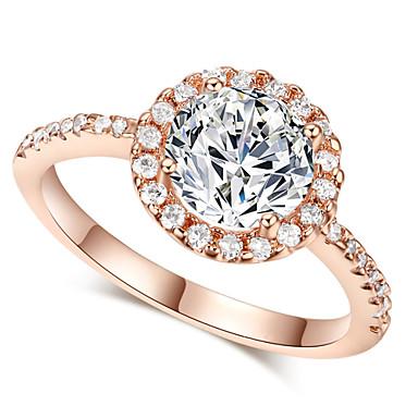 Maxi anel Cristal imitação de diamante Liga Moda Clássico Prata Dourado Jóias Casamento Festa 1peça