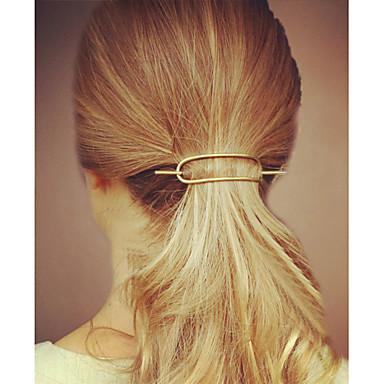 Yksinkertainen Vapaa-aika Hiusklipsu Metalliseos Hopea Kultainen