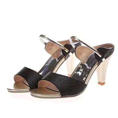 Žene Ljeto Umjetna koža Ležeran Stiletto potpetica Crna Ljubičasta Zlatna
