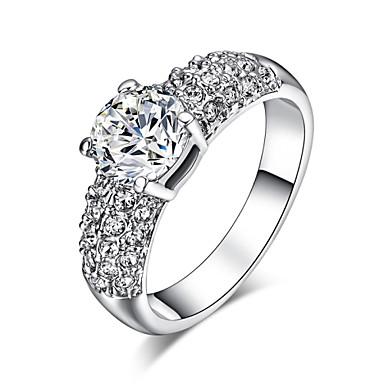 Prstenje sa stavom Kristal imitacija Diamond Legura Klasika Moda Pink Zlatan Jewelry Vjenčanje Party 1pc